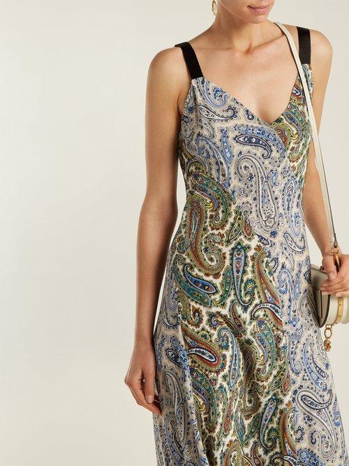 Barton paisley-print silk dress by Diane Von Furstenberg