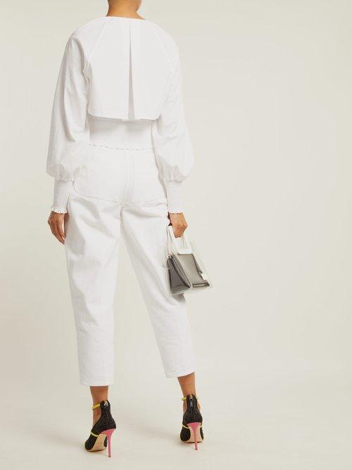 V-neck cotton cropped blouse by Diane Von Furstenberg