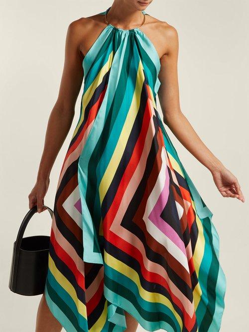 Gia Scarf Print Silk Dress by Diane Von Furstenberg