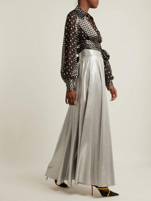 Polka-dot silk-blend chiffon blouse by Diane Von Furstenberg