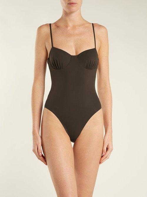 Love Button underwired swimsuit by Dos Gardenias