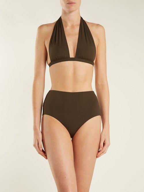 Granny high-rise bikini briefs by Dos Gardenias