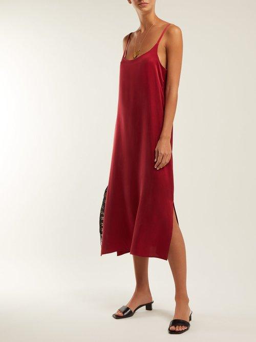 Sandwashed Silk Slip Dress by Asceno