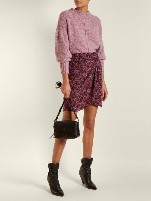 Tinken leather crossbody bag by Isabel Marant