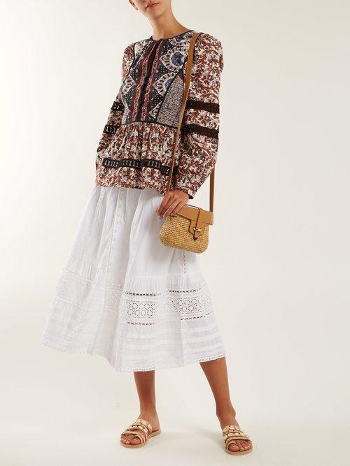 Gemma floral-print cotton blouse by Sea