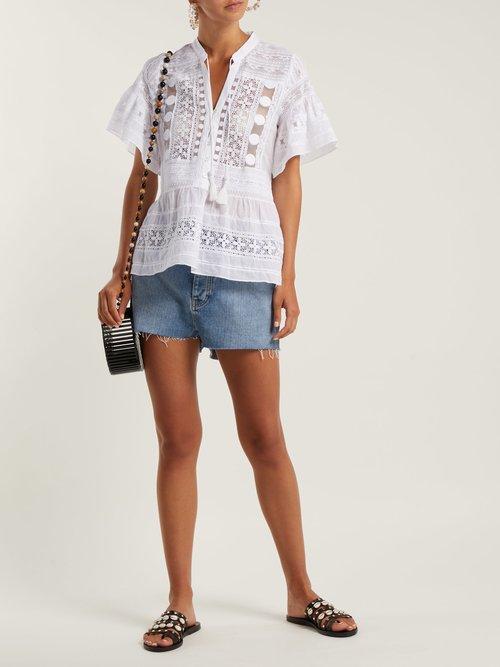 Ila crochet-lace cotton blouse by Sea
