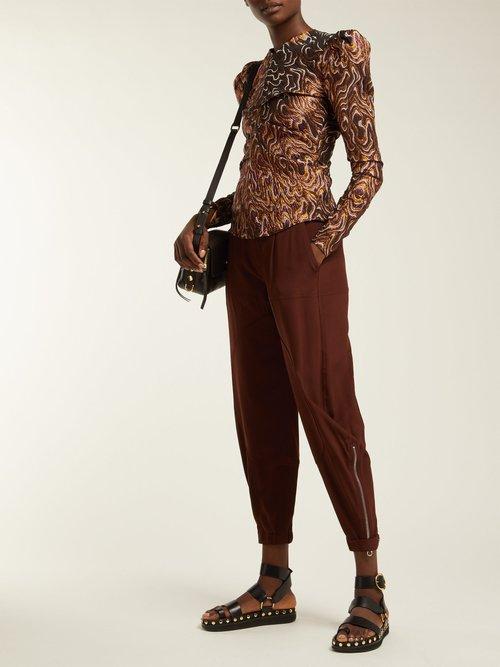 Nirvy stud-embellished leather sandals by Isabel Marant