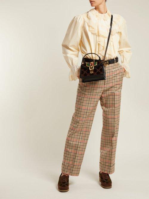 Sylvie mini velvet cross-body bag by Gucci