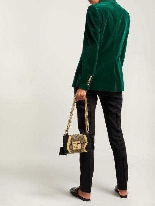 Padlock GG Supreme leather shoulder bag by Gucci