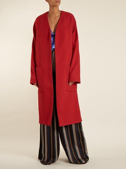 Uhura Crepe Coat by Roksanda