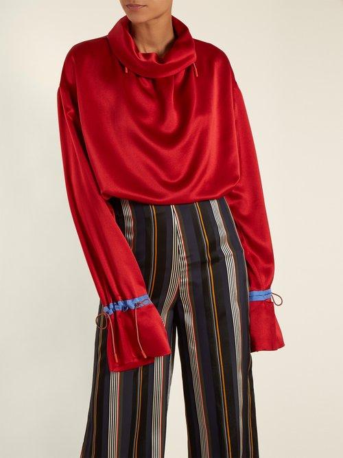 Archer silk-satin blouse by Roksanda