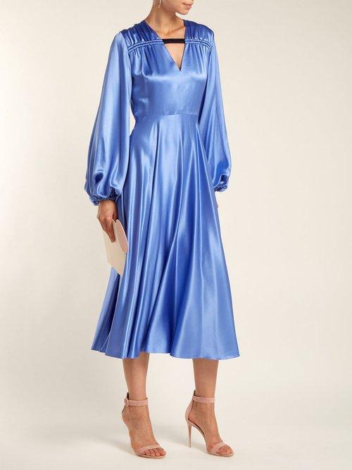 Houma silk dress by Roksanda