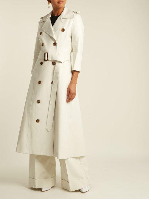 Charlotte Cotton Trench Coat by Khaite