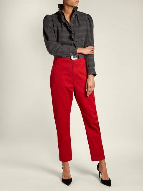 Dules ruffled cotton-twill shirt by