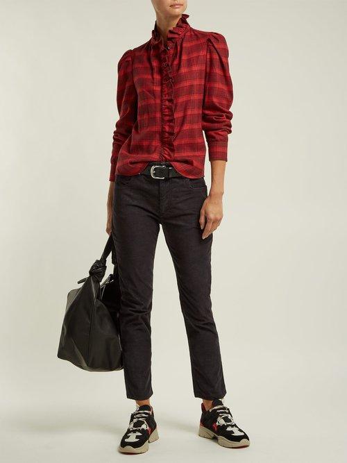 Dules ruffle-collar cotton shirt by