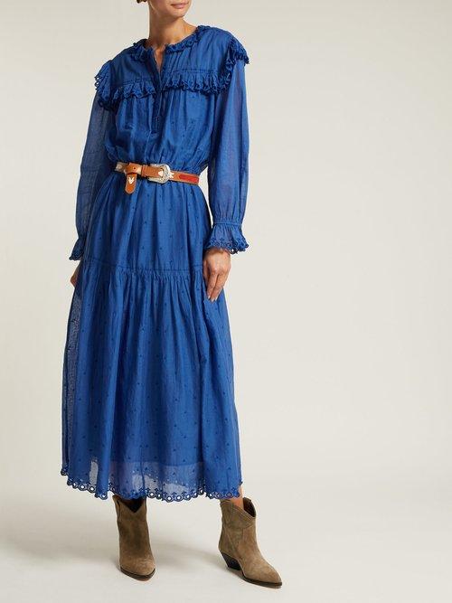 Eina Embroidered Cotton Midi Dress by