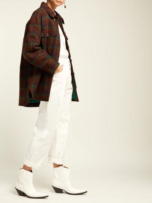 Harvey Oversized Checked Wool Jacket by Isabel Marant