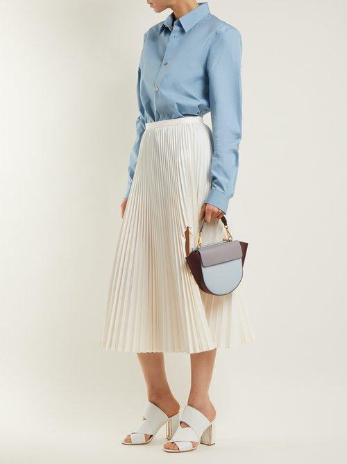 Hortensia mini leather cross-body bag by Wandler