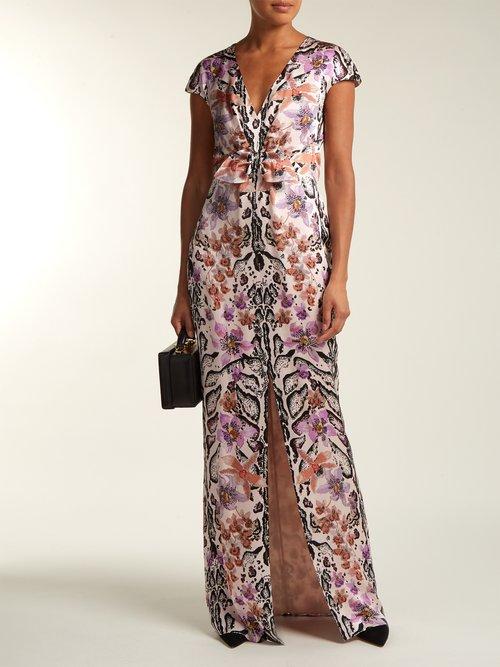 Safari Print Silk Dress by Temperley London