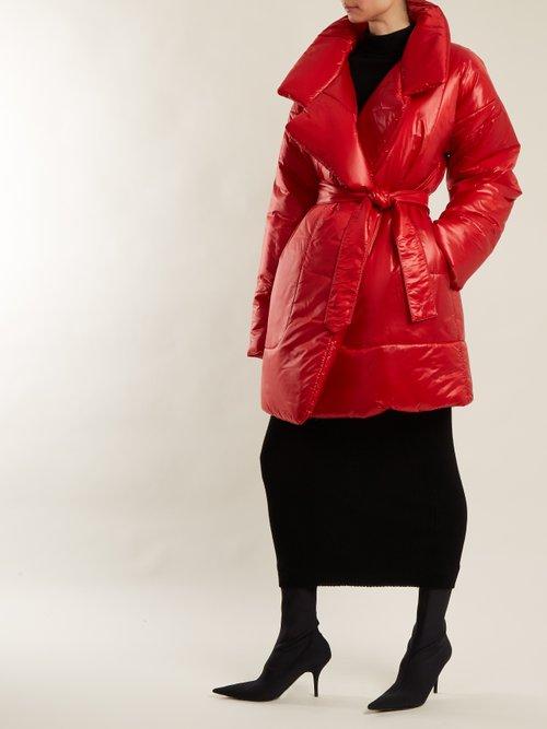 Sleeping Bag Knee Length Coat by Norma Kamali