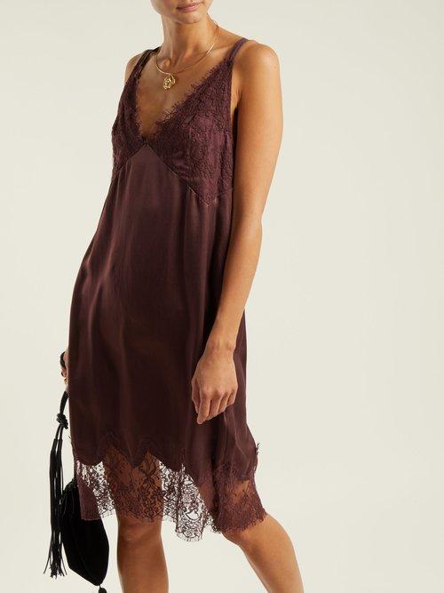 Art Marigold Silk Slip Dress by Icons