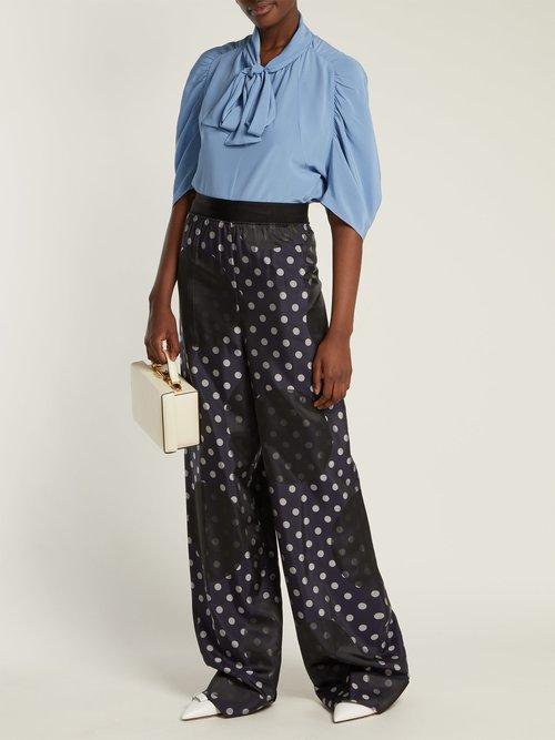 Pussybow silk blouse by Prada