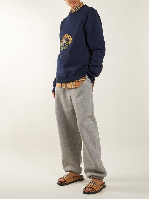 Unisex crest-embroidered round-neck sweatshirt by Burberry
