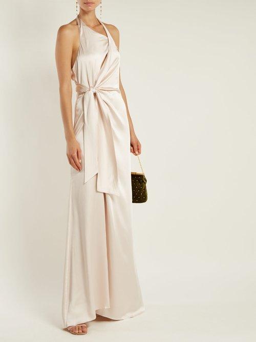 Halterneck satin gown by Jonathan Simkhai