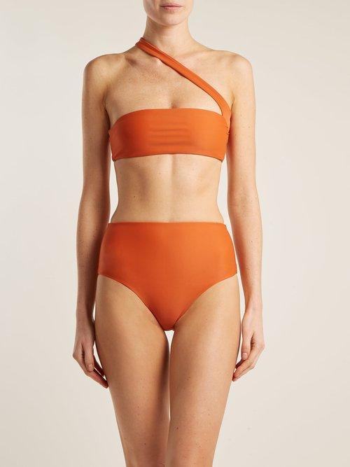 Bound high-rise bikini briefs by Jade Swim