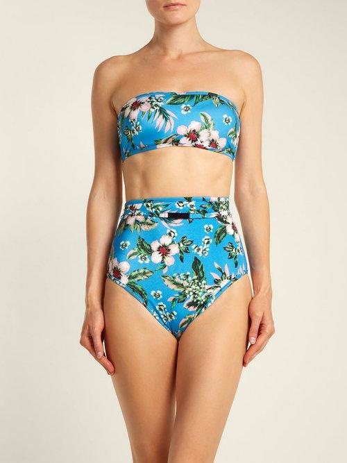 Bandeau strapless bikini top by Diane Von Furstenberg