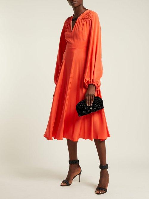 Vivien embellished velvet clutch bag by Jimmy Choo