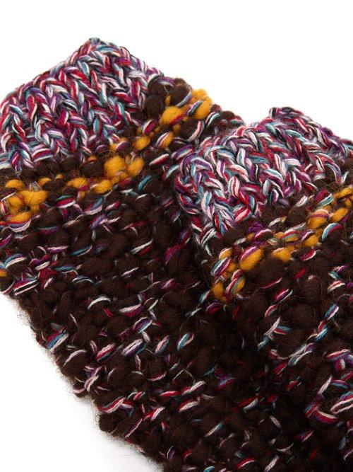 Photo of Fingerless Wool Gloves by Etro - shop Etro online sales