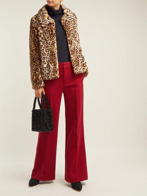 Junior Leopard Print Faux Fur Jacket by Shrimps
