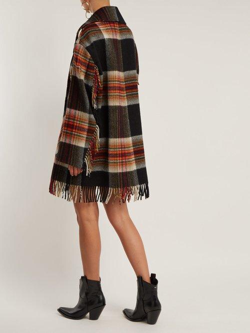 X Pendleton Fringed Plaid Wool Coat by Calvin Klein 205W39Nyc