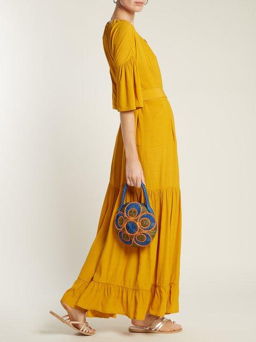 Saba woven-raffia bag by Sophie Anderson