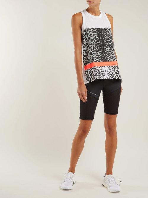 Leopard-print performance tank top by Adidas By Stella Mccartney
