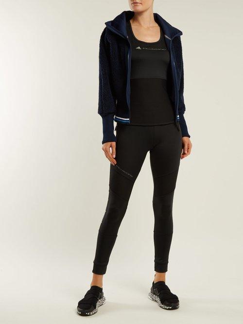 Train High Neck Fleece Jacket by Adidas By Stella Mccartney
