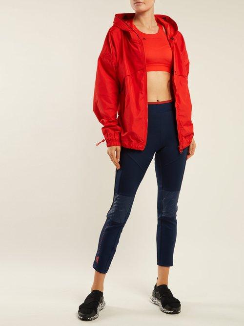 Hooded Nylon Windbreaker Jacket by Adidas By Stella Mccartney