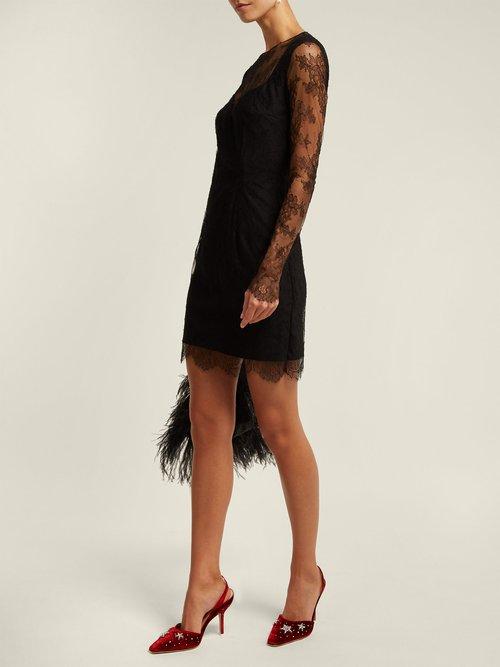 Grace Lace And Silk Blend Mini Dress by Emilio De La Morena