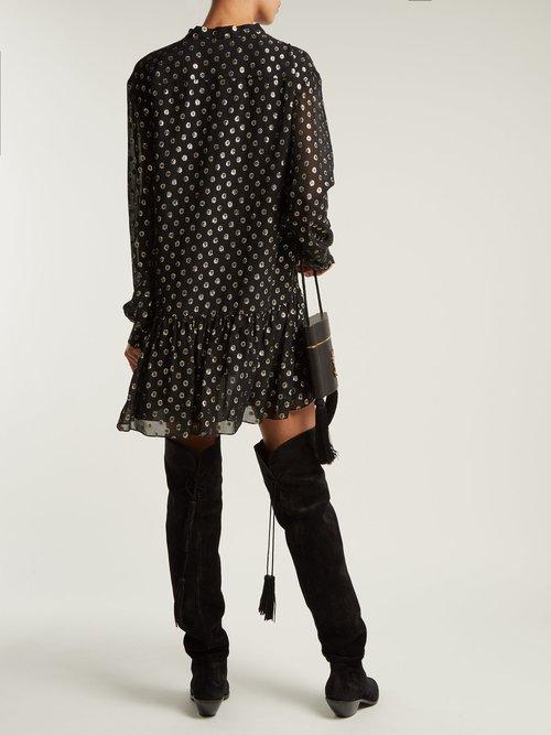 West suede slouch tassel boots by Saint Laurent
