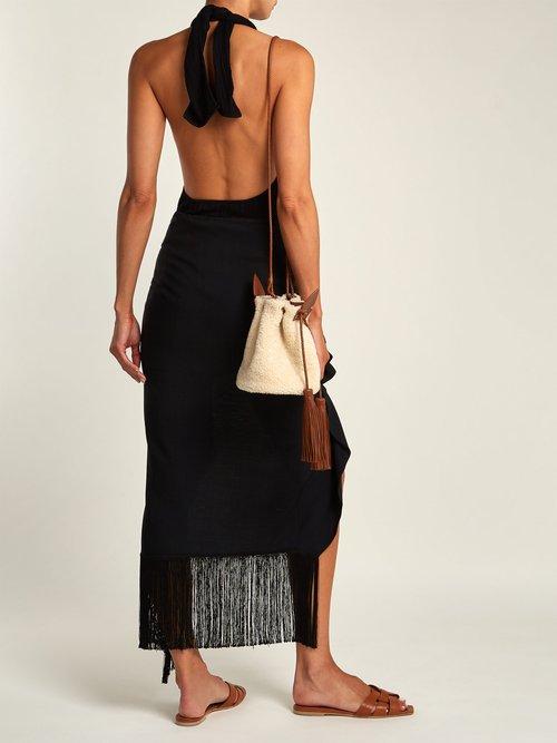 Anja small shearling bucket bag by Saint Laurent