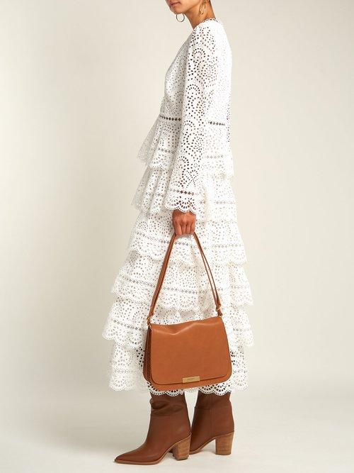 Amalia leather satchel bag by Saint Laurent