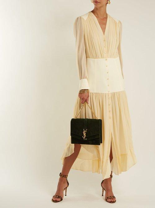 Sulpice medium suede cross-body bag by Saint Laurent