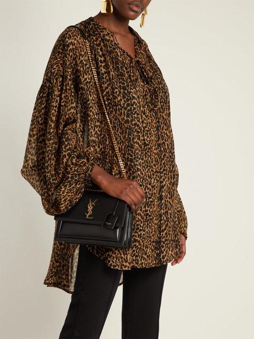 Sunset medium leather shoulder bag by Saint Laurent