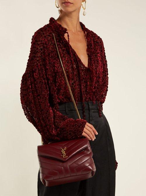 Loulou monogramme leather shoulder bag by Saint Laurent
