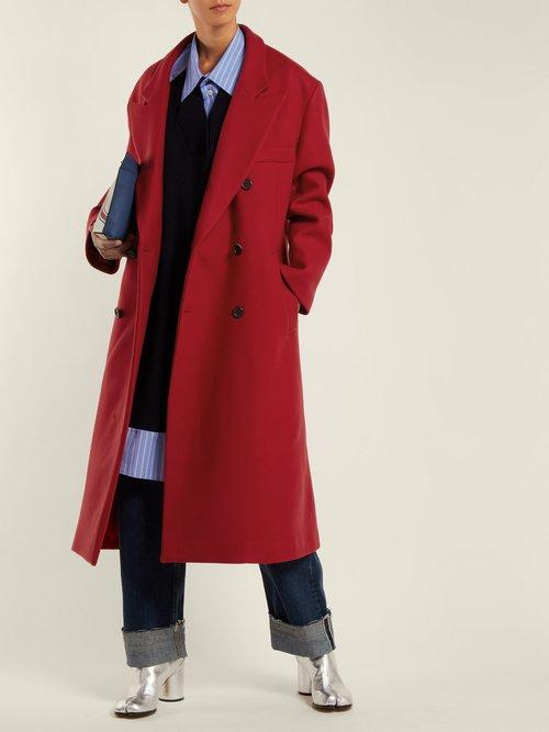 Virgin Wool Open Back Coat by Maison Margiela