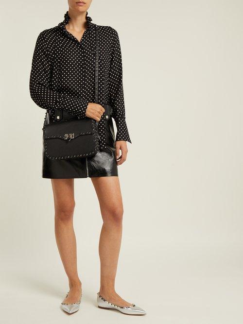 Rockstud Rolling leather shoulder bag by Valentino