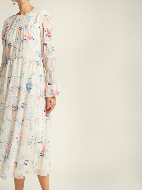 Viola printed chiffon maxi dress by Borgo De Nor