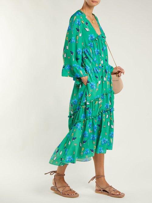 Shop Borgo De Nor Iris crepe dress online sale