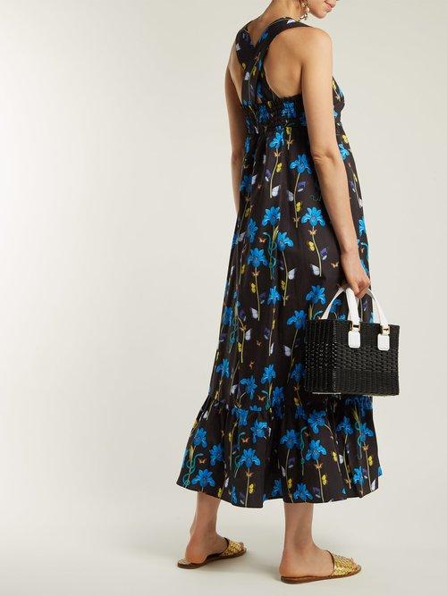 Mila floral-print cotton dress by Borgo De Nor